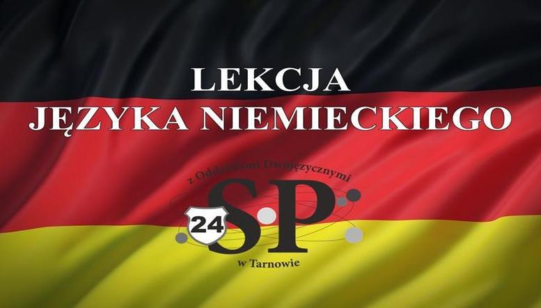 Rozśpiewana lekcja języka niemieckiego w 1A
