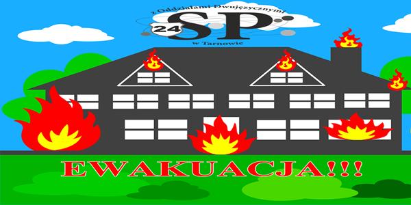 Próbna ewakuacja uczniów i pracowników SP24